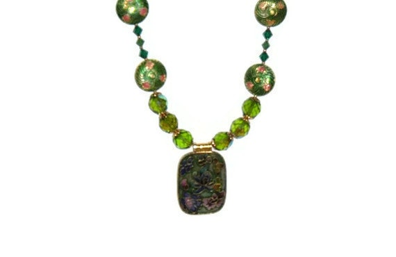 Cloisonne Necklace - Reserved Listing
