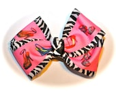 Boutique Bow, Zebra Shoe Lover