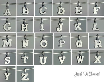 Sterling Silver Charm Miniature Letter of Your Choice Alphabet Tiny