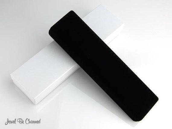 Long Bracelet Box Black Velvet Jewelry Boxes Beaded or Charm