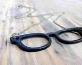Black Metal Eyeglasses Necklace