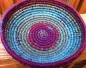 Glacier Bay Rainbow/Multi-colored Coiled Basket
