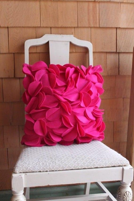 Petal Pillow in Dark Pink
