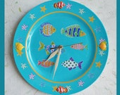 Plate Wall Clock Fish Pool Design