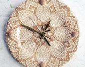 Wall Clock Decorative beige and tan