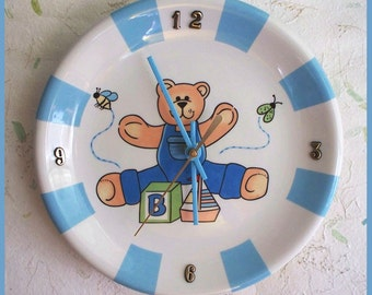 Wall Clock Plate Baby Boy Design