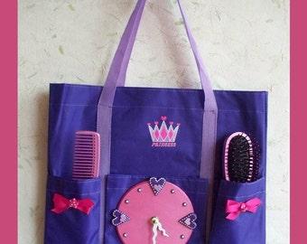 Wall Clock Girls Princess Tote with bonus Hair Set