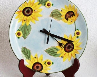 Kitchen Wall Clock Floral Design