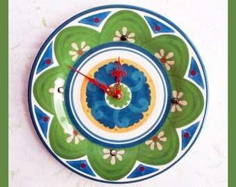 Wall Plate Clock Olive Design