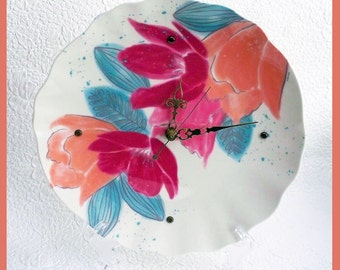 Flower Wall Clock, Plate
