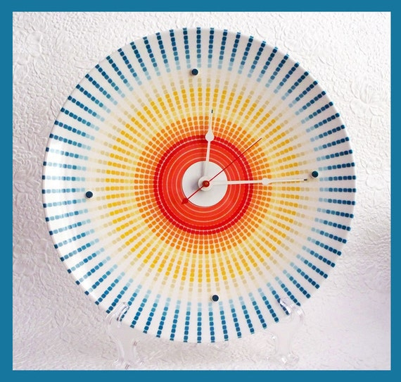 Wall Plate Clock A Burst of Time