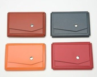 Business card case - Milano-style -  Set of 4  -Eco-Chic Leather - Your choice of colors