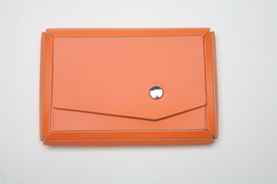 Citrus Eco- Chic Leather Business card case - Free Shipping