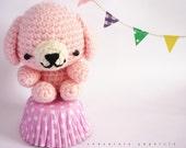 SALE Amigurumi Pink Puppy