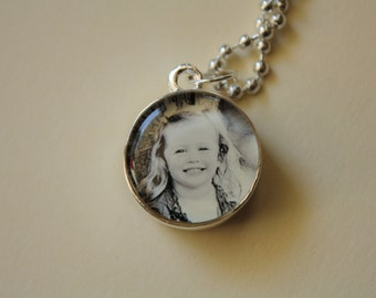 Custom Personalized Photo Jewelry Pendant Necklace-double sided