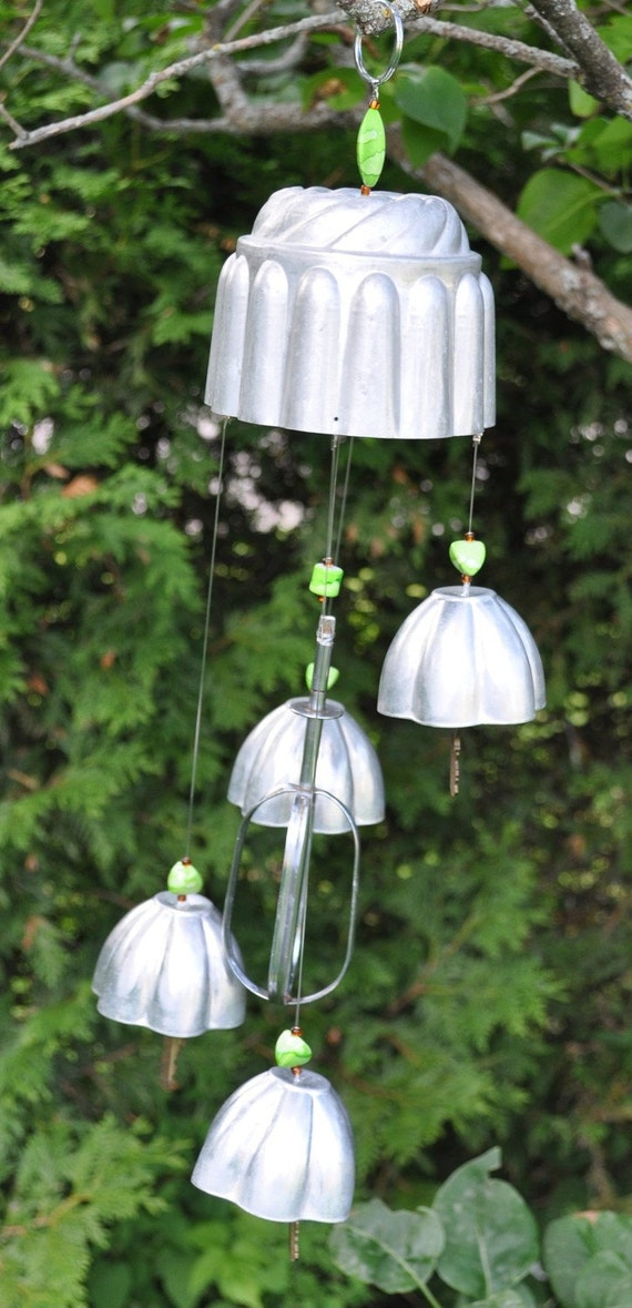 Vintage Jello Molds and Silverware Wind Chime