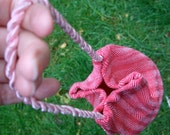Handwoven pink silk bag