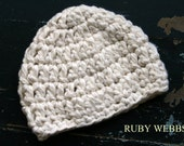 Organic Cotton Baby Crochet in Off-White, 0- 3 months Ready to be Shipped