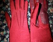 Warmest Wine Nylon Gloves