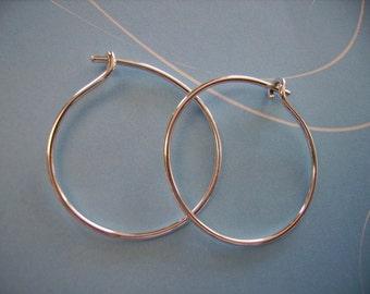 Simply Elegant Sterling Hoop Earrings