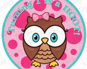 Birthday Girl IRON ON transfer Turning 1 is a hoot Birthday Iron On Heat Transfer 1st Birthday First Birthday Little Girl Owl Birthday