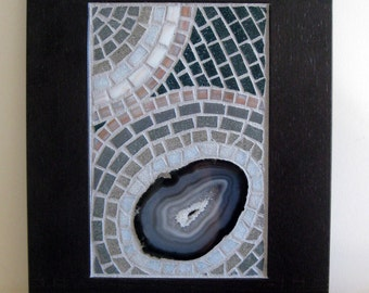 Wall Mosaic - Ocean Secrets, Mosaic Art, Wall Decor, Geode Mosaic