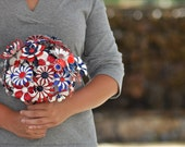 Brooch Bouquet - Patriotic Military 4th of July, Vintage Brooches in Red, White & Blue, wedding bouquet, bridal bouquet - LionsgateDesigns