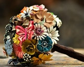 CUSTOM MADE Wedding Jewelry Brooch Bouquet - to fit your color, style & budget, vintage bridal bouquet