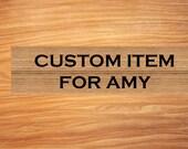 Custom Item For Amy