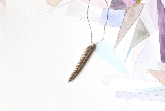 Golden Unicorn Horn Necklace