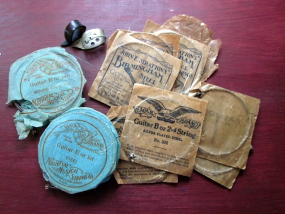 Old-Time Rock and Roll Guitar Strings Collection