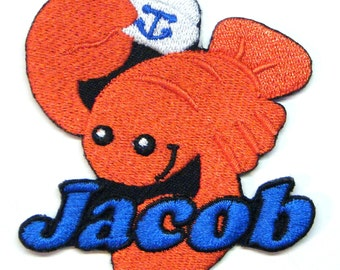 Iron on Patch Lobster Name Personalized Free