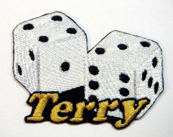 Iron on Patch Dice Name Personalized Free
