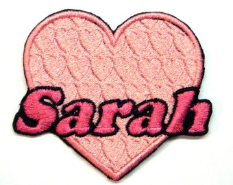 Pink Heart Custom Personalized Iron-on Patch
