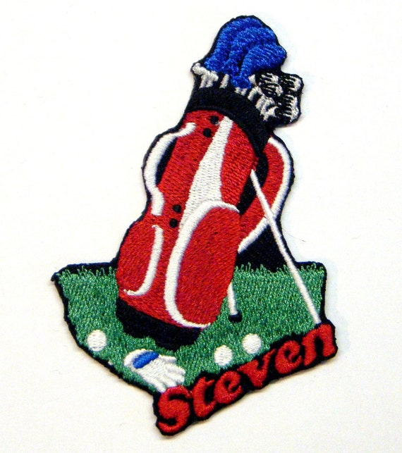 Iron on Patch Golf Name Personalized Free