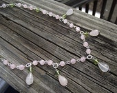 Spring's Promise of Hope--Rose Quartz and Peridot Necklace--TeamBPAL Fundraiser