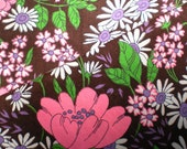 SALEVintage 1960s 1970s Psychedelic Floral Trippy Fabric Cotton Canvas Upholstery