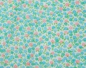 RESERVED for vt SALE Vintage  fabric 1960's DELICATE Floral Pattern garden print Cotton