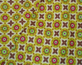 SALE Vintage 1950's 1960's cotton Geometric Mid Century Modern Fabric