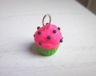 Polymer Clay Watermelon Cupcake Charm