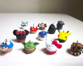 Custom Polymer Clay Create Your Own Cupcake Charm