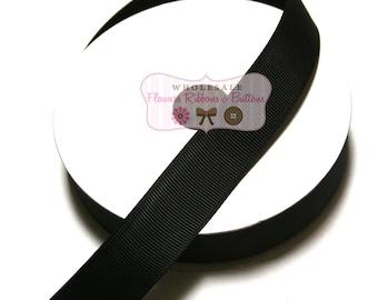Black Ribbon - Wholesale Grosgrain Ribbon - Grosgrain Ribbon 10 Yards - Ribbon - DIY Crafts - Solid Color Ribbon - Ribbon for Bows - Ribbons