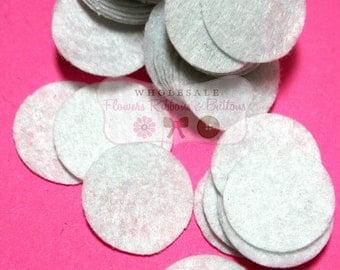 """White Felt 1 1/2"""" Circles, Wholesale Felt, Finishing Felt, DIY Baby Headbands - Approx 100 pieces - Flower Felt"""