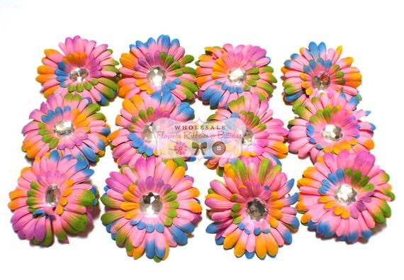4 Inch Pink Tye Dye Daisy Flowers By Wholesaleflowers On Etsy