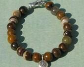 Zebra Jade Lotus Bracelet