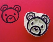 Lonely Little Bear - Hand Carved Stamp