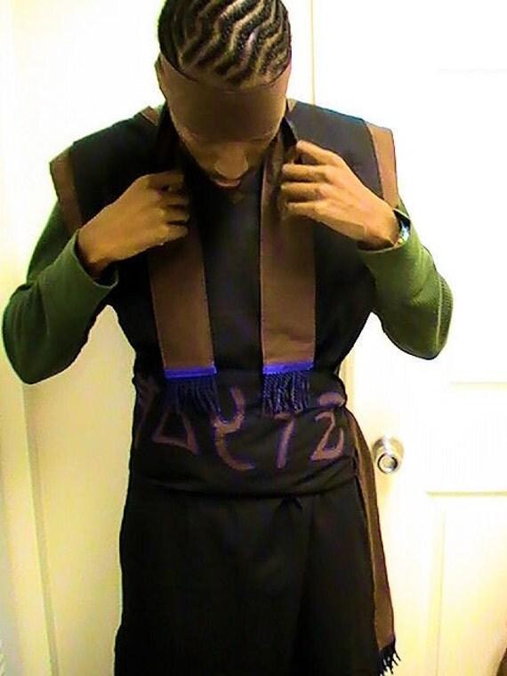 black and brown israelite garment plus headband