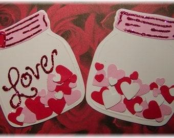 Love Jar embellishment (set of 3)