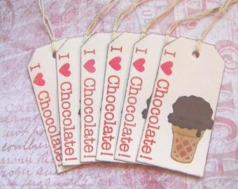 I Love Chocolate Ice Cream Tags (6)