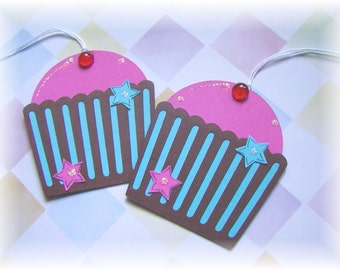 Cherry Cupcake  Tags (4)